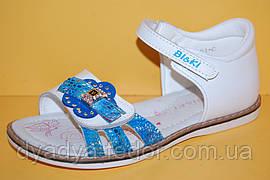 Детские Босоножки Bi&Ki Китай 3351 Для девочек Белый размеры 27_32