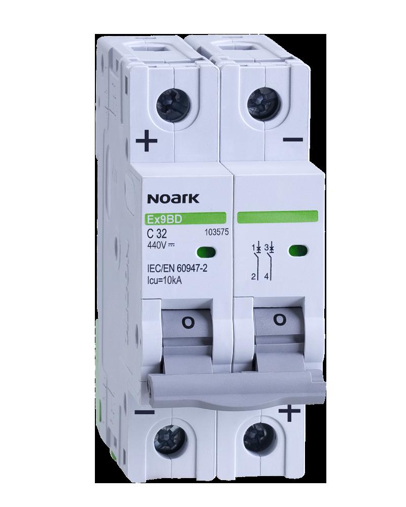 Автоматический выключатель для DC Noark C 16А 2P Ex9BD 103572