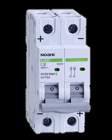 Автоматический выключатель для DC Noark C 16А 2P Ex9BD 103572, фото 2