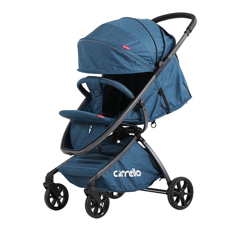 Коляска прогулочная CARRELLO Magia CRL-10401 Blue/Denim Blue алюм рама, резин.кол.+дождевик S