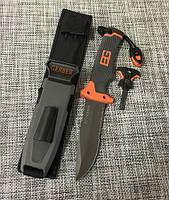 Нож для выживания, туристический Gerber Bear Grylls Replica BG-210 в чехле с огнивом и свистком, Ножи с фиксированным клинком, Ножі з фіксованим лезом