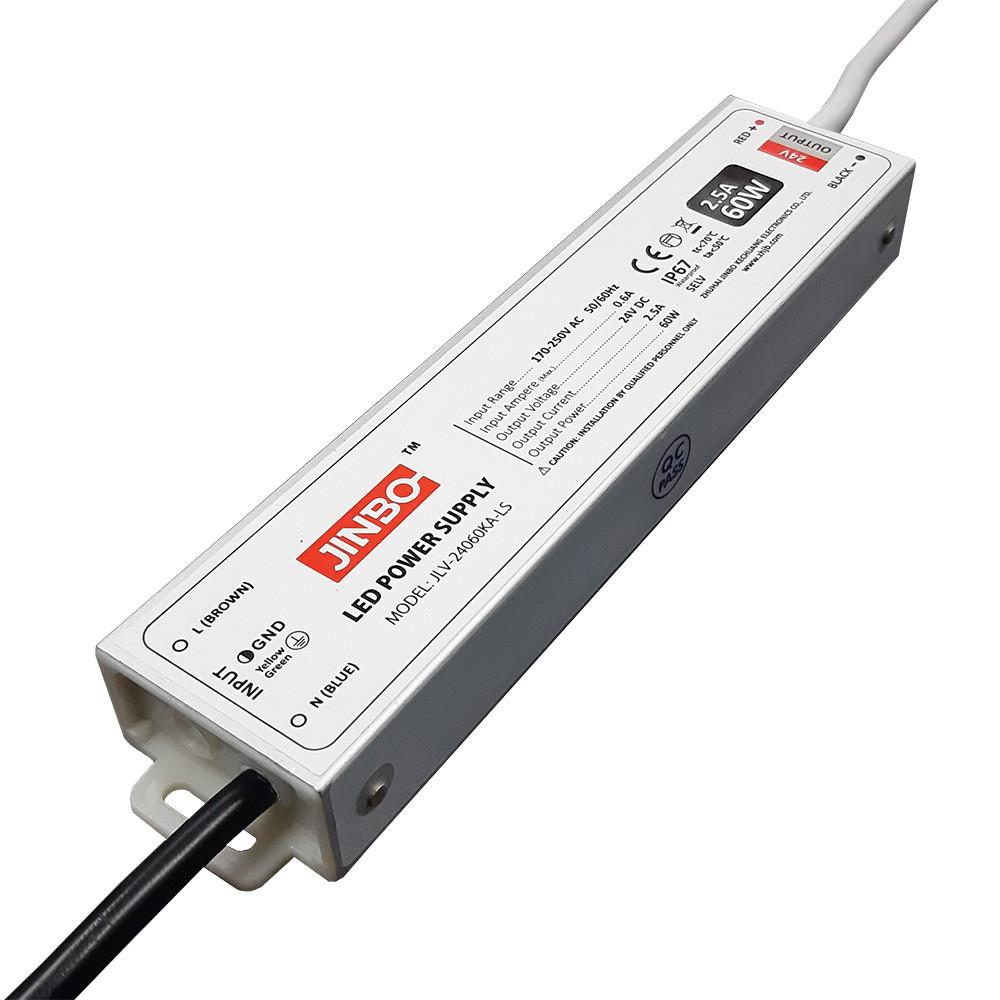 Блок живлення JLV-24060KA-LS 24вольт 60вт герметичний IP67 12826