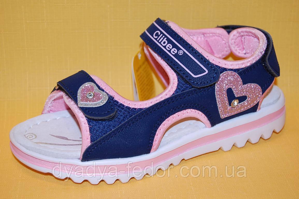 Детские Босоножки Clibee Польша Z533 Для девочек Синий размеры 32_37