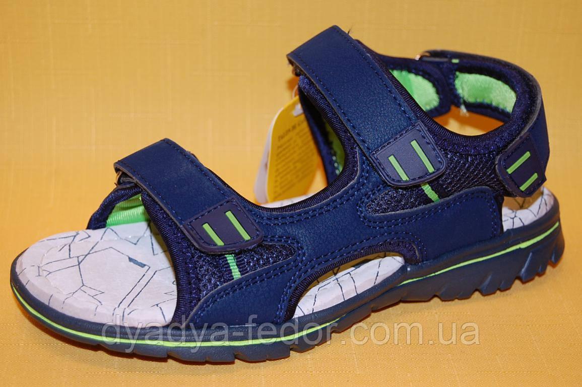 Детские босоножки Clibee Польша Z506 Для мальчиков Синий размеры 31_36