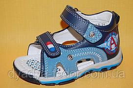 Дитячі Босоніжки Bi&Ki Китай 4088 Для хлопчиків Синій розміри 21_26