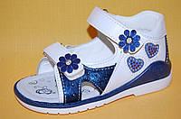 Детские Босоножки Kimboo Китай 7701 Для девочек Синий размеры 20_25, фото 1
