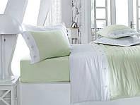 Однотонное постельное бельё Cotton Box Fashion YESIL