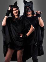 Черное пончо для многих карнавальных образов