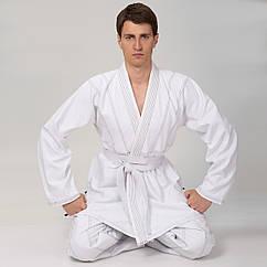 Кимоно для джиу джитсу белое VELO VL-6649 (хлопок, р-р 1-7 (140-200см), плотность 350г на м2, пояс в комплект не входит, белый)