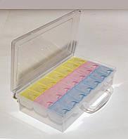 Двойной органайзер для бисера и бусин 21 отделение (23х 13 х 5,5 см.)