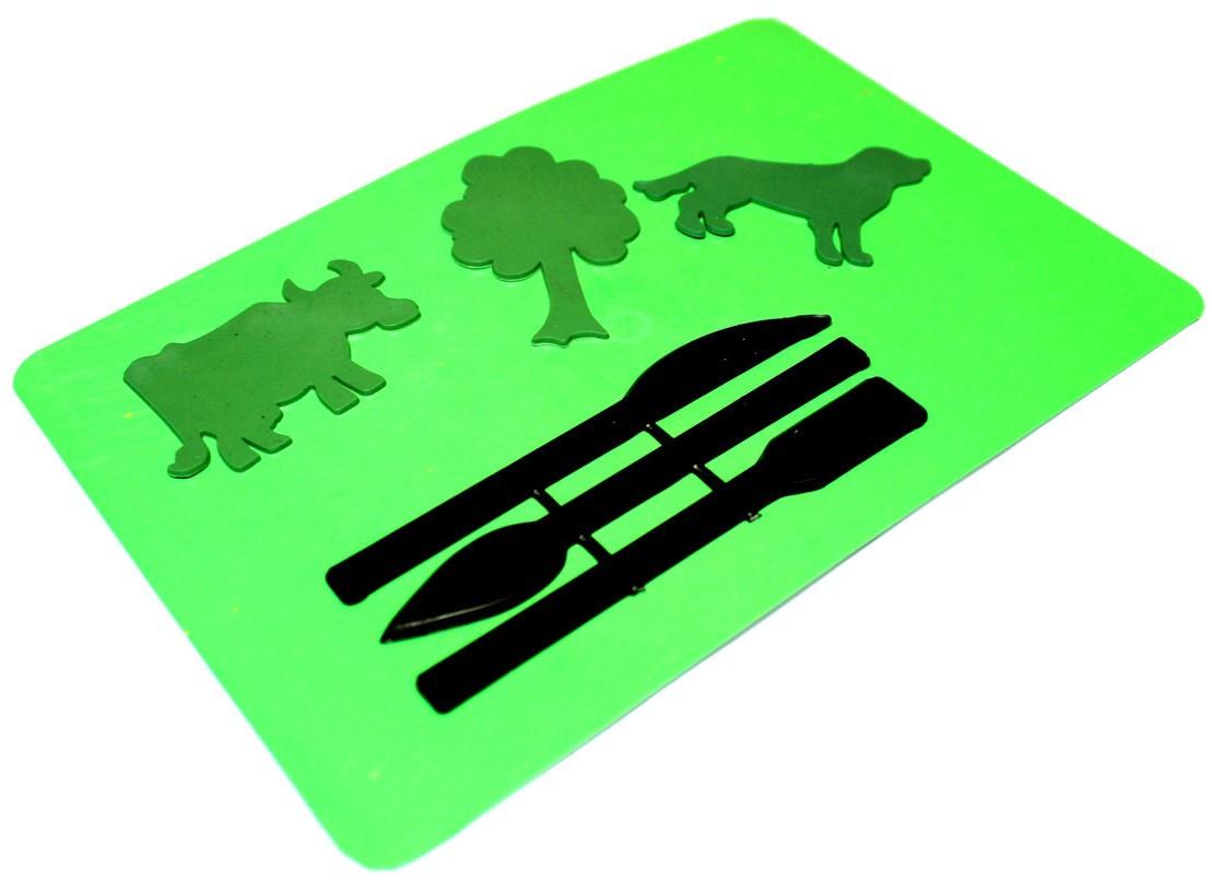 Доски для пластилина АППЛИКАЦИЯ (160х235mm)+стеки + фигурки для детского творчества