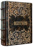 """Библия Книга Библия (7.3 х 11.2 см), натуральная кожа """"Евангелие"""" Foliant EG537"""