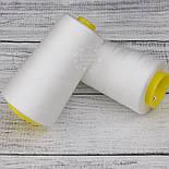 Нитки швейные 40/2, 4000 ярдов, цвета айвори (1001), фото 4