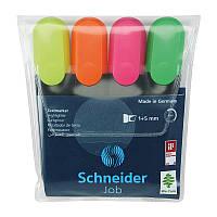 Маркер текстовый Набор текстовых маркеров Schneider JOB (4 шт) в блистере S1500**