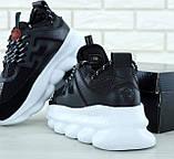 Кроссовки Versace Chain Reaction Black White, кроссовки версаче чейн реакшн, кросівки Versace Chain Reaction, фото 7