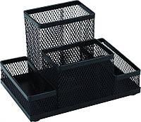 Набор настольный Подставка органайзер металлическая  KL0910  Я12582_KL0910(черная)