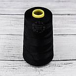 Нитки швейні 40/2, 4000 ярдів, чорного кольору, фото 3