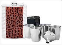 Набор подарочный: фляга, стаканчик, воронка Optima O51682