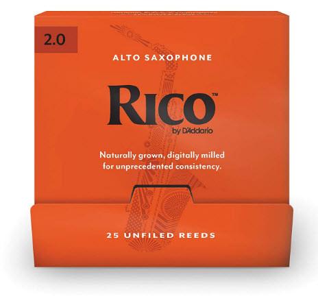 25 штук D`ADDARIO RJA0120-B25 Rico by D'Addario - Alto Sax #2.0 - 25 Box Трости для альт саксофона