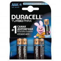 Батарейки DURAСELL TurboMax AAA бат. алкалиновые 1.5V LR03 (3шт+1шт)  б/к  Бельгия 0157298
