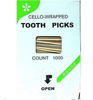 Зубочистки 1000шт бамбук с ментолом в индивид.упаковке К-Tooth Picks 0122590