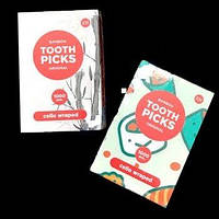 Зубочистки 1000шт бамбук в индивид.упаковке  К-Tooth Picks  0122537