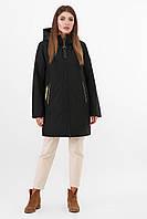 Утепленная молодежная куртка оверсайз прямого кроя цвет черный Куртка 2103
