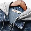 Стильна жіноча джинсовці з капюшоном (42-46), фото 5