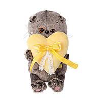 М'яка іграшка Budi Basa Кот Басік Baby з сердечком, 20 см