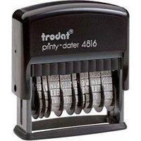 Датер Двойной мини-датер 3,8 мм пластмассовый Trodat NEW 4816