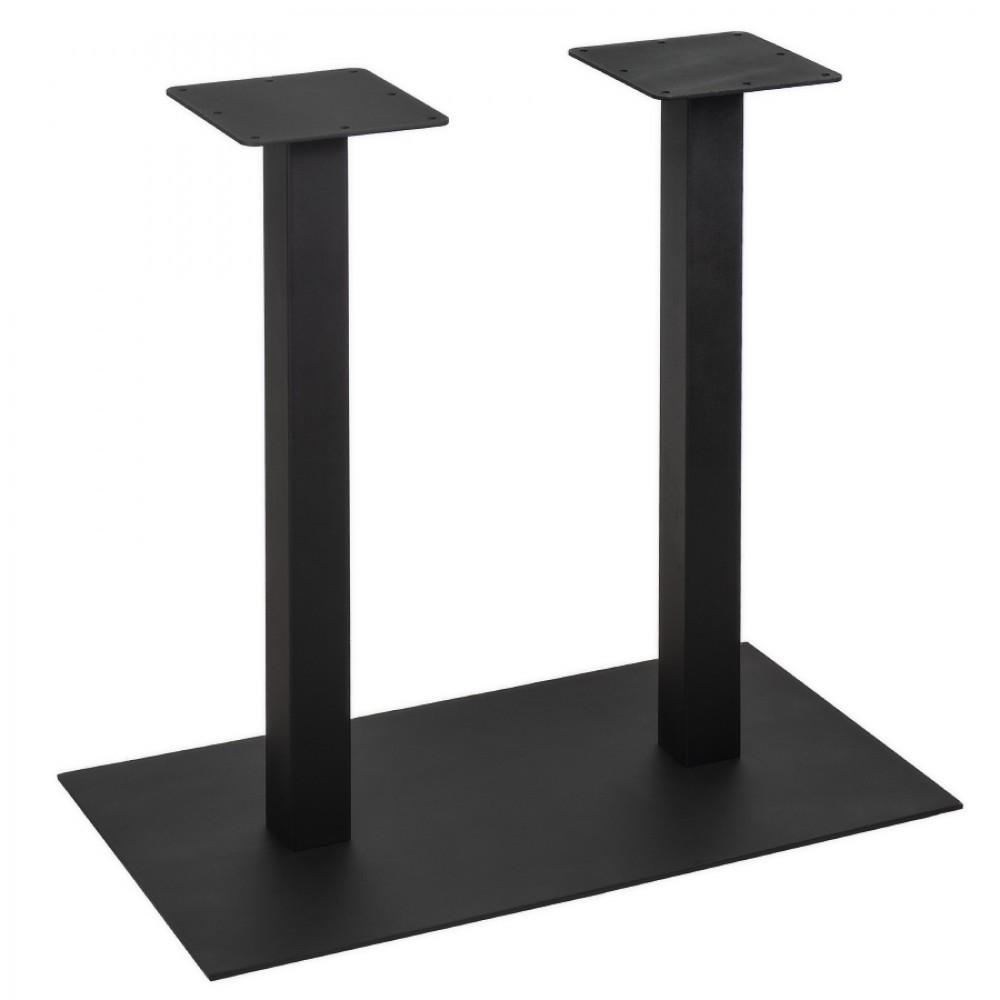 """Чорні опори з металу """"DUO"""" для столу ніжки для столу в ресторани та кафе"""