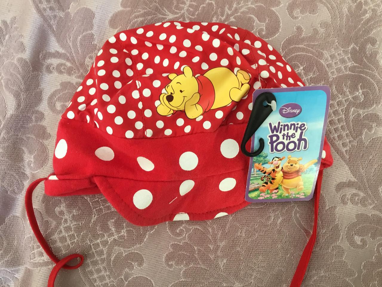 Хлопковая шапочка для девочки с Винни-Пухом