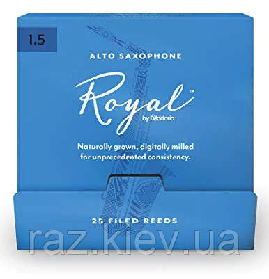 25 штук D`ADDARIO RJB0115-B25 Royal by D'Addario - Alto Sax #1.5 - 25 Box Трости для альт саксофона