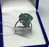 Кольцо серебряное с нефритом Лили, фото 3