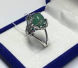 Кольцо серебряное с нефритом Лили, фото 4