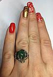 Кольцо серебряное с нефритом Лили, фото 7
