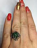 Кольцо серебряное с нефритом Лили, фото 8