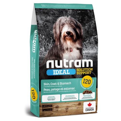 Сухой корм I20 Nutram Ideal Solution для взрослых собак с проблемами кожи и желудка, с ягненком, 11,4 кг