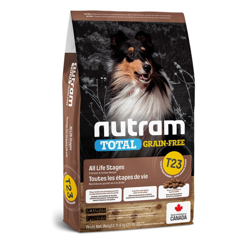 Сухой корм T23 Nutram Total Grain-Free Turkey & Chiken для собак, с индейкой и курицей, беззерновой, 2 кг