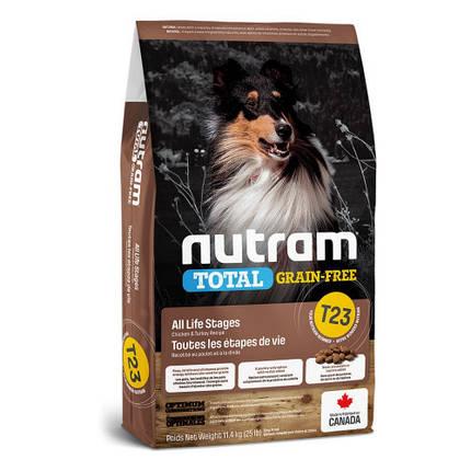 Сухой корм T23 Nutram Total Grain-Free Turkey & Chiken для собак, с индейкой и курицей, беззерновой, 2 кг, фото 2