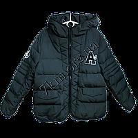 Детская осенне-зимняя куртка для мальчиков 3-6 лет черный