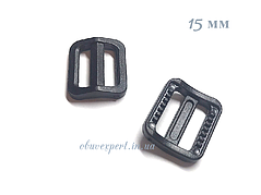 Пряжка пластикова чорна 15 мм