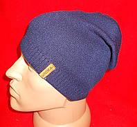 Вязаная спортивная шапочка UNIKA. на мальчика-подростка