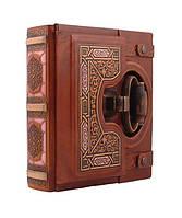"Книга почетных гостей Книга почетных гостей, натуральная кожа ""малая Замковая"" 22 х 23 х 8 см Foliant"