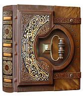 """Книга почетных гостей Книга почетных гостей, натуральная кожа """"Замковая большая"""" 29 х 31х 10 см Foliant"""