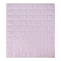 Декоративная 3Д панель стеновая Светло-фиолетовый Кирпич (самоклеющиеся 3d панели для стен) 700x770x5 мм, фото 1