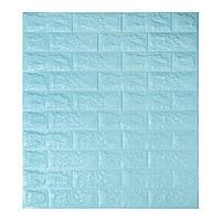 Декоративна 3Д панель стінова Бірюзовий Цегла (самоклеючі 3d панелі для стін) 700x770x5 мм