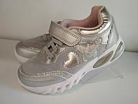 Кроссовки для девочки Светящиеся Bi&Ki р. 30 (19,5 см), 32 (21 см), фото 1