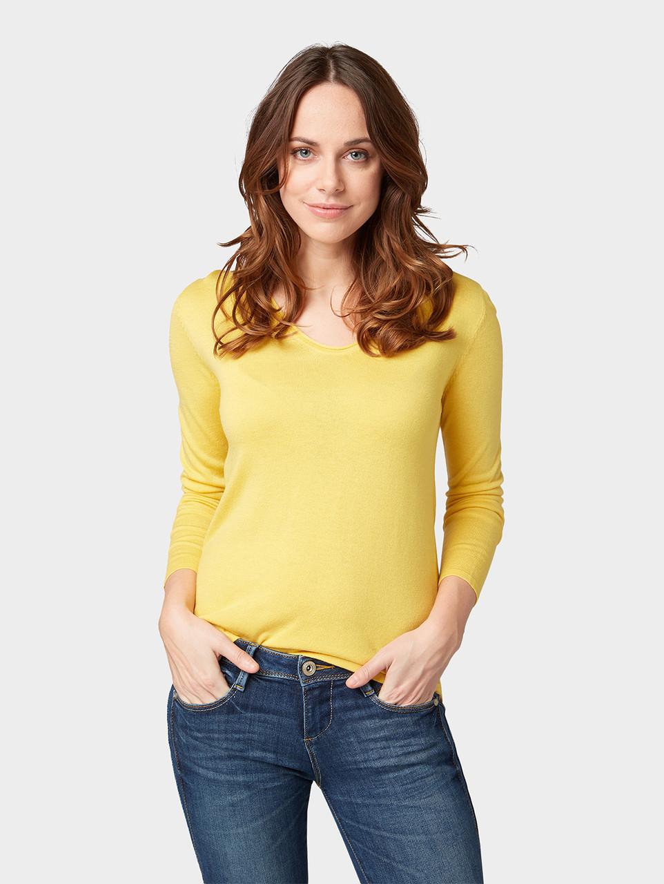 Пуловер Tom Tailor 1008009 XXXL Желтый