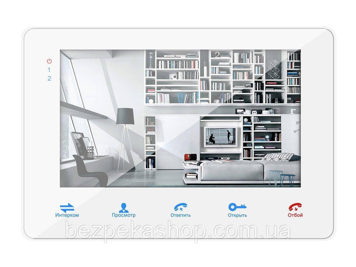 """Samson SW-718 монитор домофона 7"""" с памятью на 80 кадров и SD карту (белый)"""